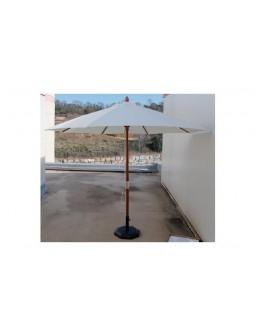 Parasol madera 300 cm tubo...