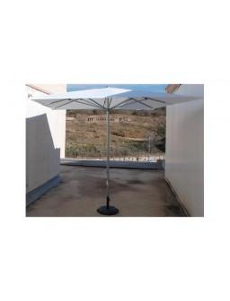 Parasol aluminio 3x3m blanco