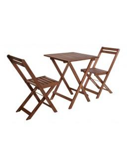 Mesa madera 60x60cm+2...