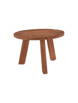 Mesa madera teka baja Ø50x34cm