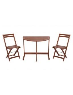 Mesa madera 90x60 cm+2...
