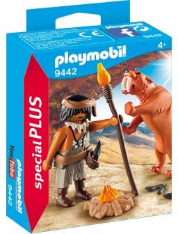 Playmobil neandertal con tigre