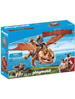 Playmobil dragons barrilete...