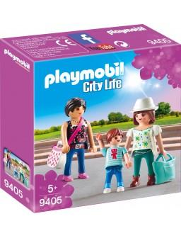 Playmobil mujeres con niño