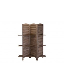 Biombo con estantes madera...