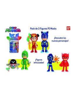 PJ Mask pack de 2 figuras