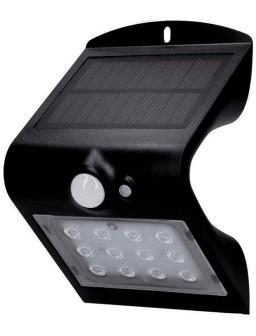 Aplique solar 220lm Negro