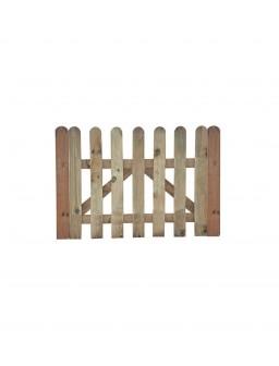 Puerta valla clásica madera...