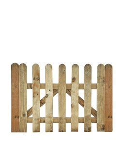 Puerta valla clasica madera...