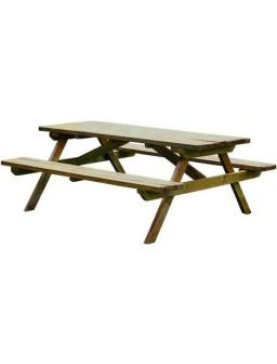 Mesa picnic con banco...