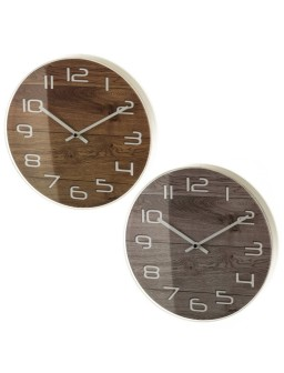 Reloj pared 2/c plástico 30...
