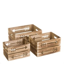 3 cajas contrachapado...