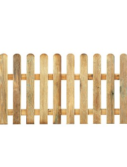 Valla clásica de madera...
